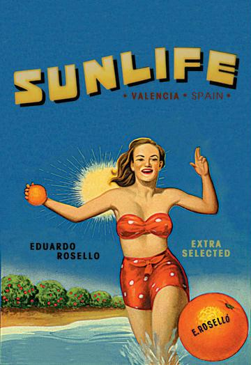 Sunlife Brand 12x18 Giclee On Canvas