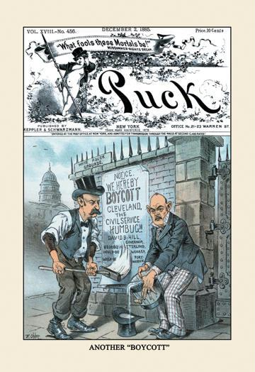 Puck Magazine: Another Boycott 12x18 Giclee On Canvas