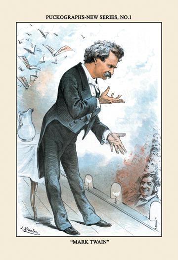 Puck Magazine: Puckographs Mark Twain 12x18 Giclee On Canvas