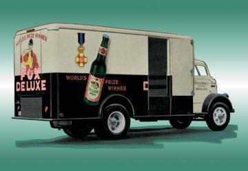 Fox Deluxe Beer Truck 12x18 Giclee On Canvas