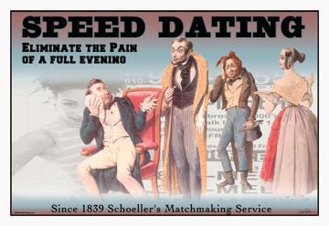 "Buyenlarge 14903-5CG12 Speed Dating 12"" x 18"" Giclee on Canvas"