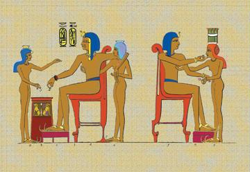 Ramses III Playing at Draughts 12x18 Giclee On Canvas