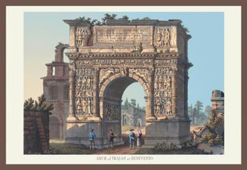 Arch of Trajan at Benevento 12x18 Giclee On Canvas