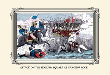 Attack on the Hollow Square at Hanging Rock 12x18 Giclee On Canvas