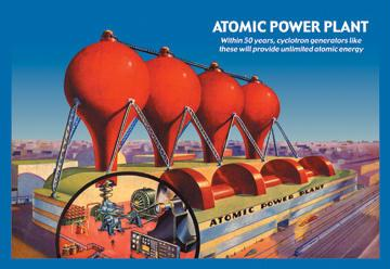Atomic Power Plant 12x18 Giclee On Canvas