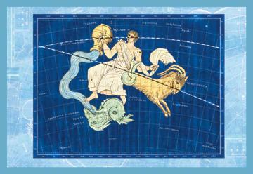 Capricorn and Aquarius No.1 12x18 Giclee On Canvas