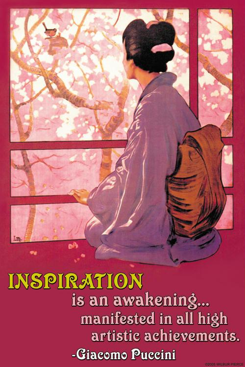 Inspiration Madame Butterfly 12x18 Giclee On Canvas
