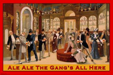 Ale Ale the Gang's All Here 12x18 Giclee On Canvas