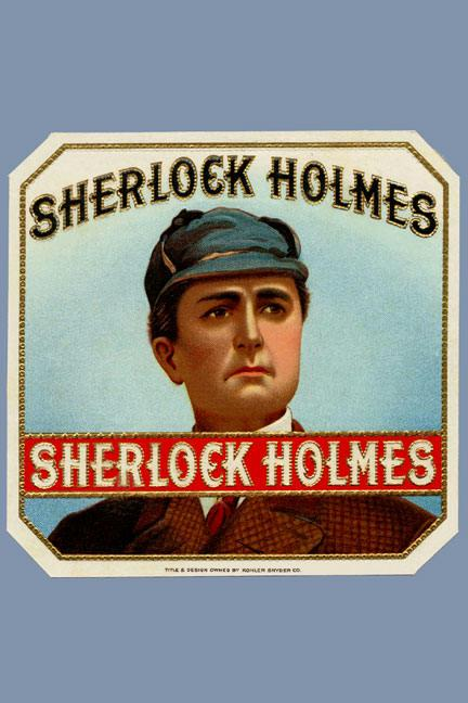 Sherlock Holmes Cigar Label 12x18 Giclee On Canvas