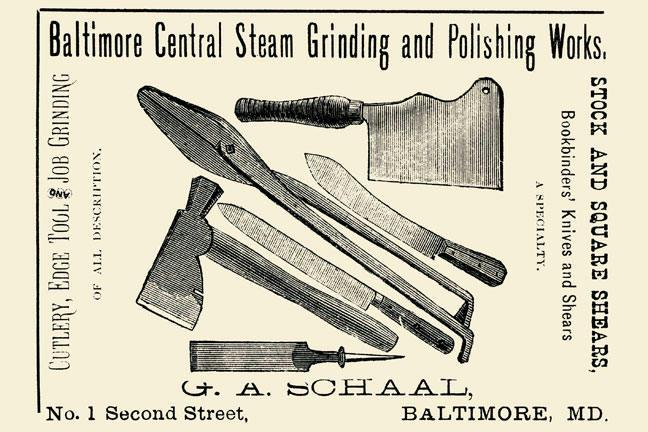 Baltimore Central Steam Grinding and Polishing Works 12x18 Giclee On Canvas
