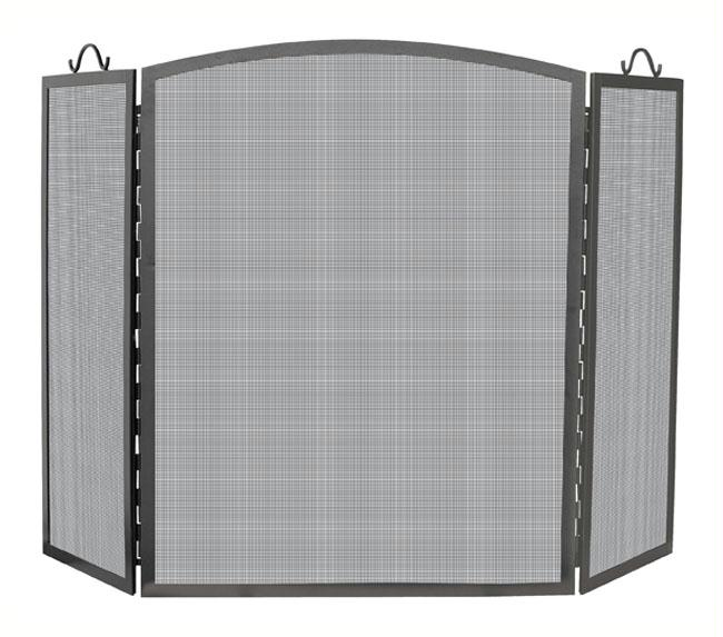 UniFlame S-1172 3 Panel Olde World Iron Arch Top Screen Large