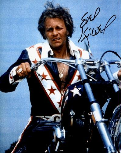 Evel Knievel Signed 8 x 10 Photo - Close Up in Color