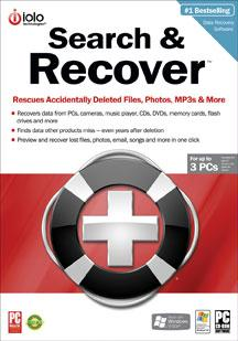 IOLO TECHNOLOGIES LLC SR5D SEARCH AND RECOVER 5 - WIN 2000  XP  Vista / DVD Software