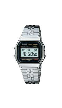 Casio A158W-1 Mens Digital Stainless Steel Watch