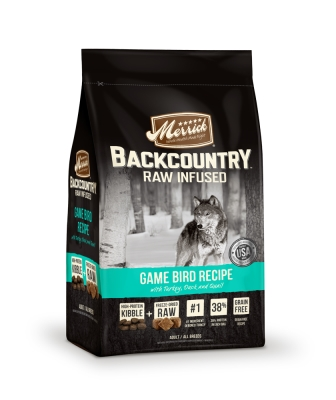 MP37018 Backcountry Game Bird Recipe Raw-Infused Dry Dog Food