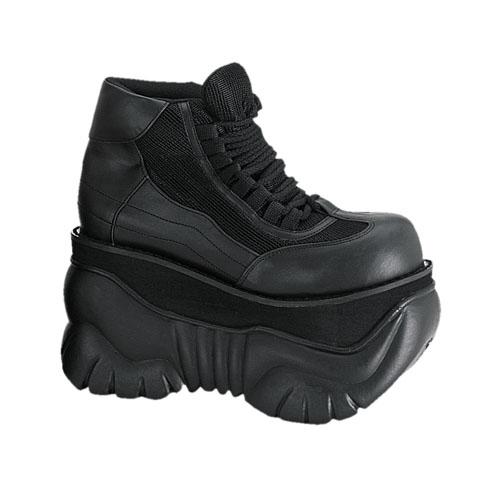 Demonia Boxer-01 4 Inch Platform Black Pump Laceup Sneaker Shoes Size 6