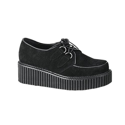 Demonia Creeper-101 2 Inch Platform Creeper Black Suede Shoe Size 10