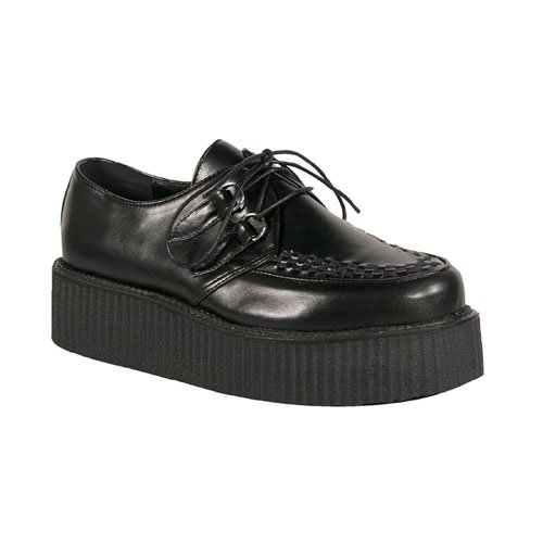 Demonia V-Creeper-502 2 Inch Platform Black Pump Basic Veggie Creeper Shoe Size 11