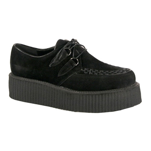Demonia V-Creeper-502S 2 Inch Platform Basic Suede Veggie Creeper Shoe Size 8