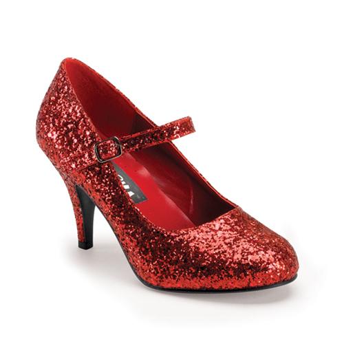 Funtasma Glinda-50G Red Glittre Mary Jane Shoe 3 Inch Size 9