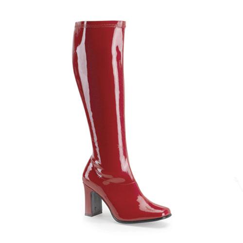 Funtasma Kiki-350 Red Str Pat Gogo Boot 3.25 Inch Size 7