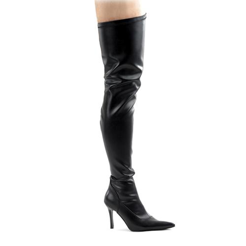 Funtasma Lust-3000 Black Str Pump Thigh Boot 3.75 Inch Size 7