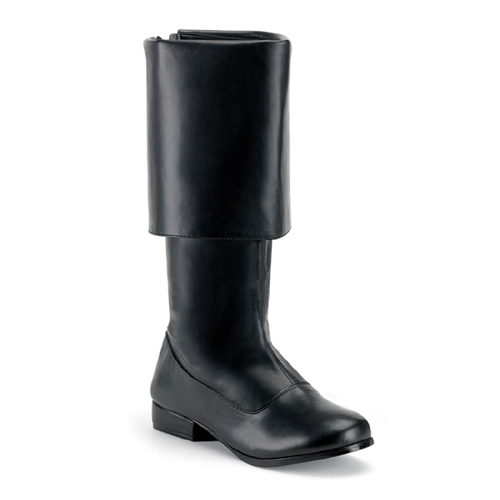 Funtasma Pirate-100 Men Black Pump Pirate Boot Size XL