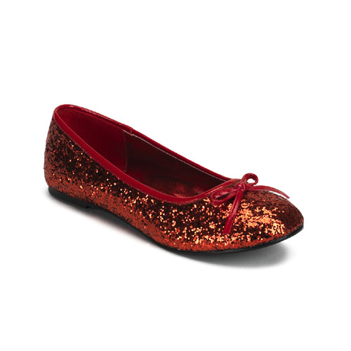 Funtasma STAR16G_R-8 Womens Star 16G Flat in Red Glitter - Size 8 PLSR08206