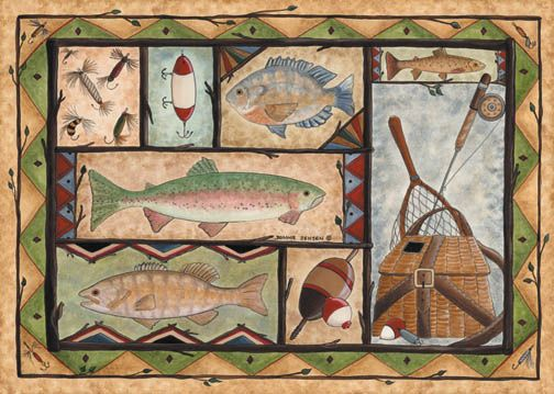 Associated Weavers FISHING Fishing Wildlife Rug