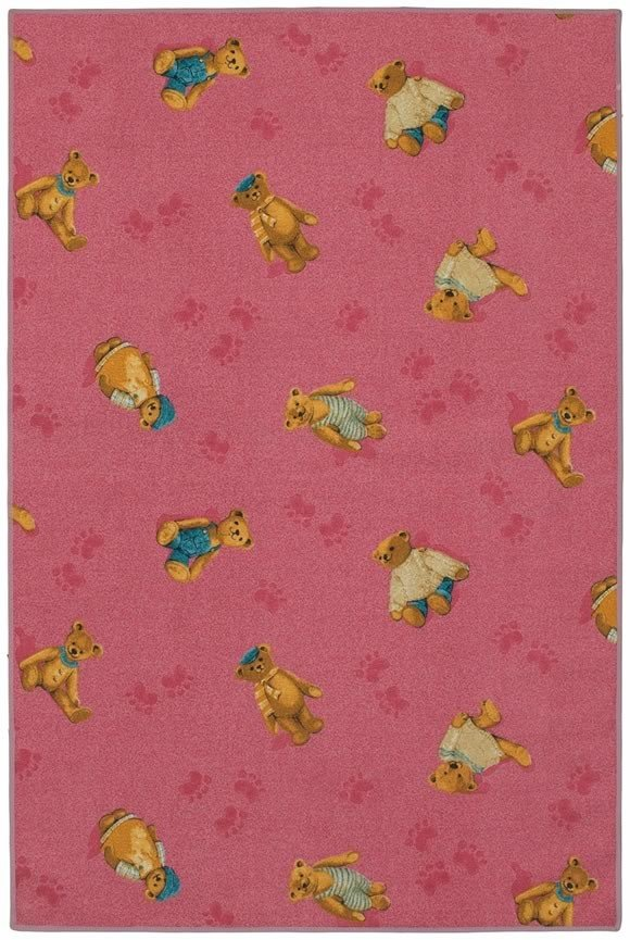 Custom Printed Rugs PLUSHY BEAR Plushy Bear Kids Corner Play Rug