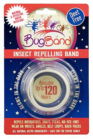 Bug Band 88201 Glow-in-the-Dark Blister Card Wrist Bands