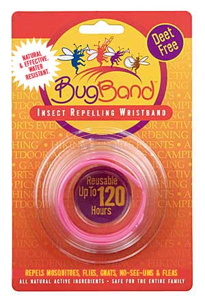 Bug Band 88202 Pink Blister Card Wrist Bands