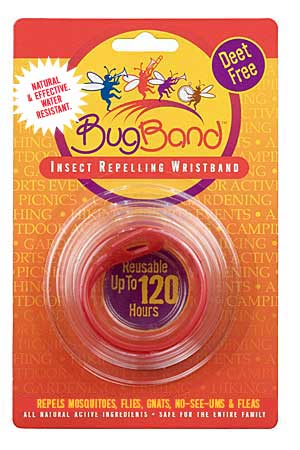 Bug Band 88203 Red Blister Card Wrist Bands