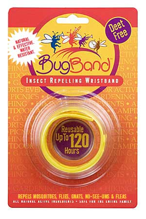 Bug Band 88204 Yellow Blister Card Wrist Bands