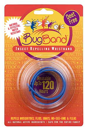 Bug Band 88207 Blue Blister Card Wrist Bands