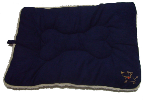 Best Pet Supplies MT862L Pet Crate Mat in Navy Blue Faux Suede - Large