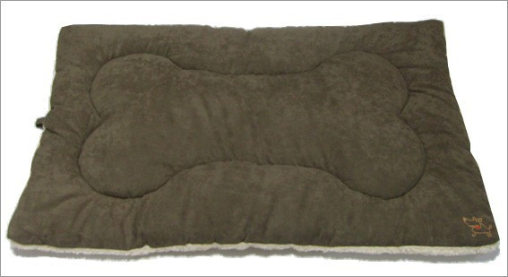 Best Pet Supplies MT863S Pet Crate Mat in Olive Green Faux Suede - Small