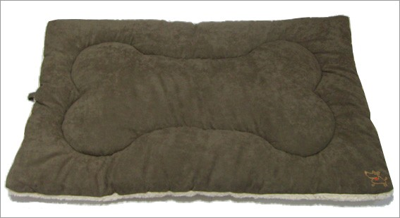 Best Pet Supplies MT863L Pet Crate Mat in Olive Green Faux Suede - Large