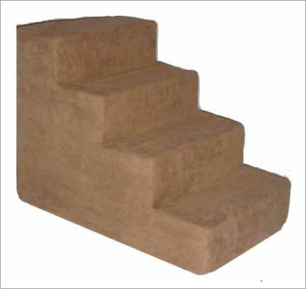 Best Pet Supplies ST205M Pet Stairs in Light Brown with 4 Steps