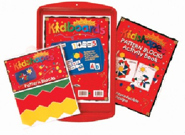 Barker Creek LM-2320 Kidshapes Pattern Block Activity Kit