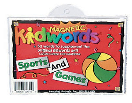 Barker Creek LM-2615 Learning Magnets Kidwords - Sports and Games