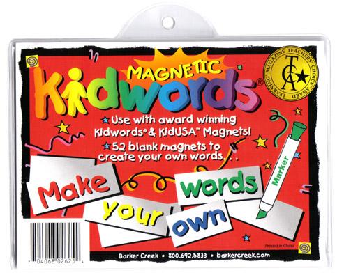 Barker Creek LM-2625 Learning Magnets Kidwords - Make Your Own Words