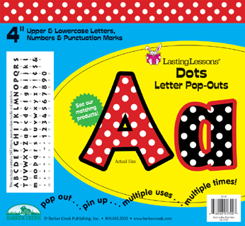 Barker Creek LL-1702  Dots Letter Pop-Outs