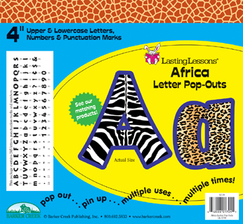 Barker Creek LL-1704  Africa Letter Pop-Outs