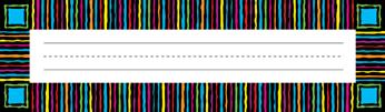 Barker Creek LL-1406  Neon Stripes Desk Tag