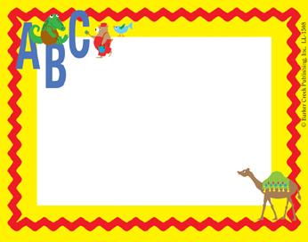 Barker Creek LL-1508  ABC Animals Name Tag