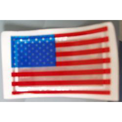Bright Ideas RF1 Reflective US Flag Sticker