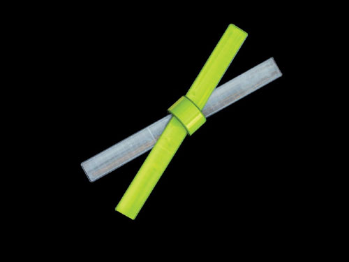 Bright Ideas RSB1L 12 Inch Reflective Slap Bracelet - Lime