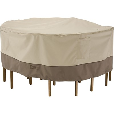 Classic Accessories 71962 Bistro Patio Table and Chair Set Cover in Pebble/ Earth/ Bark