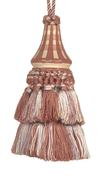 123 Creations C030.5 Inch Issabelle - Mocha Checks Tassels